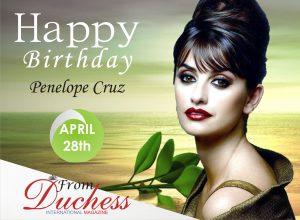 penelope cruz Birthday wish