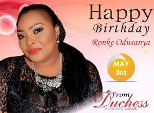 ronke odusanya Birthday wish