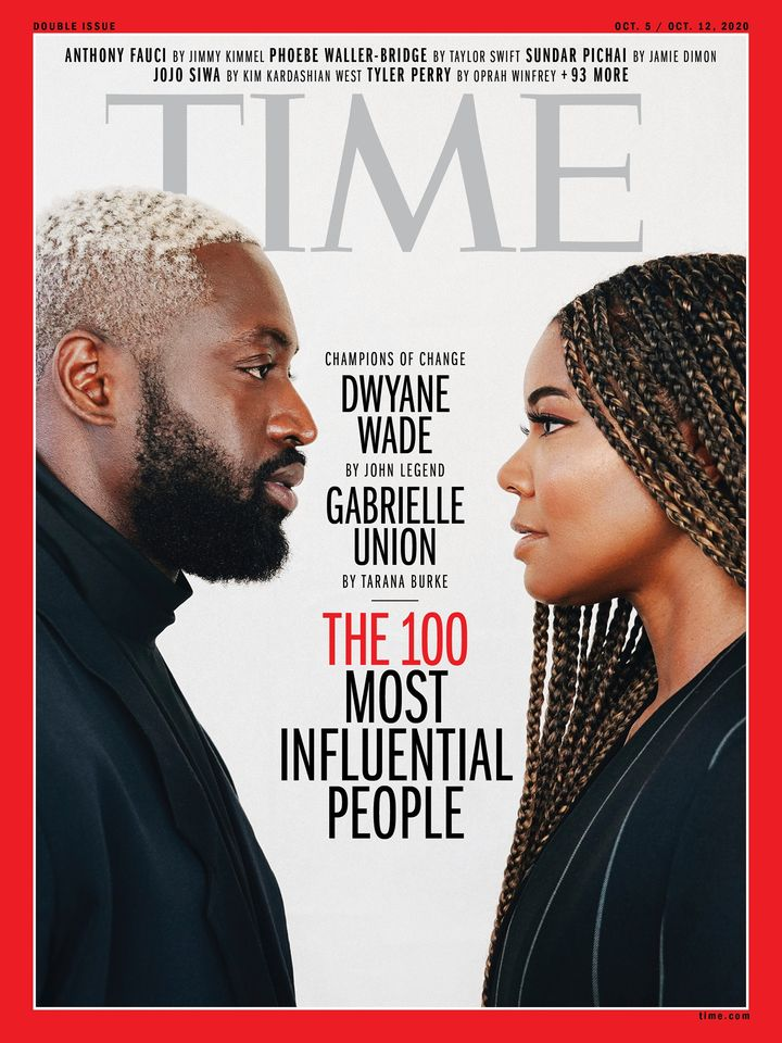 Gabrielle Union and Dwayne Wade On Time Cover