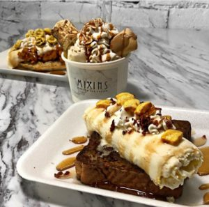 Black owned Mixins Rolled Ice Cream