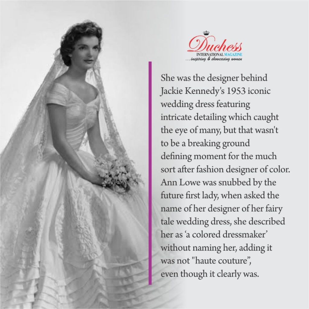 Ann Lowe: First Black Designer Who Designed Jackie Kennedy's iconic wedding dress