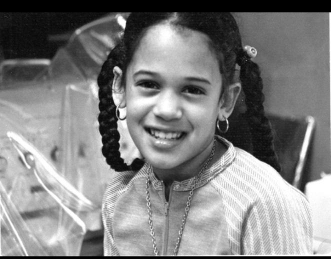 A young Kamala Harris
