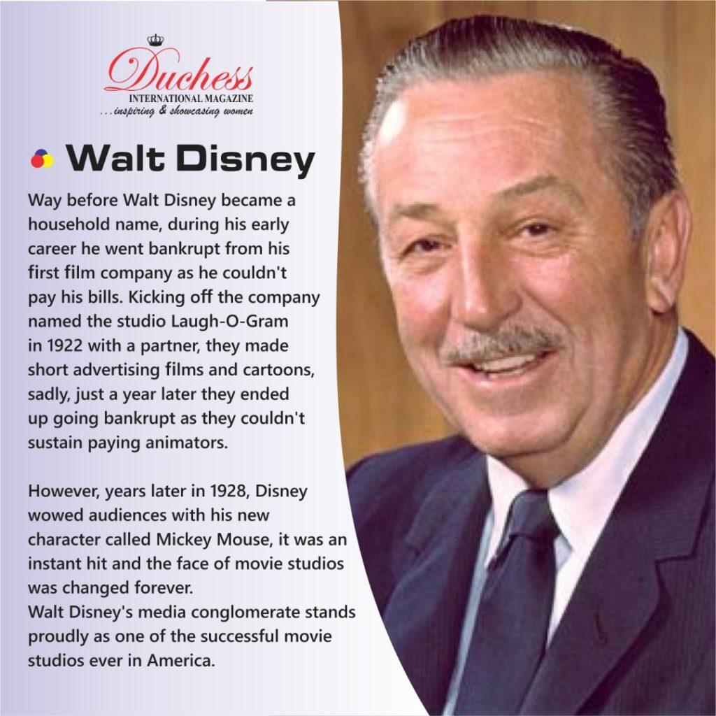 Walt Disney Rose from bankruptcy