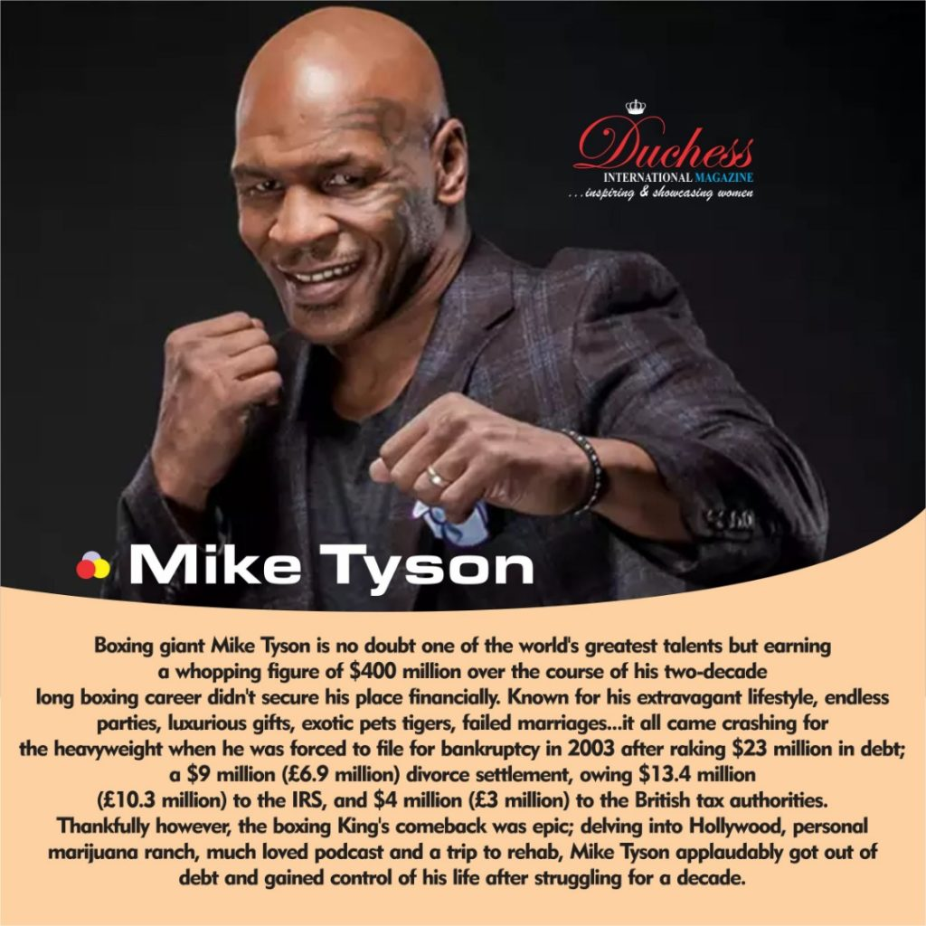 How Mike Tyson bounced back from bankruptcy