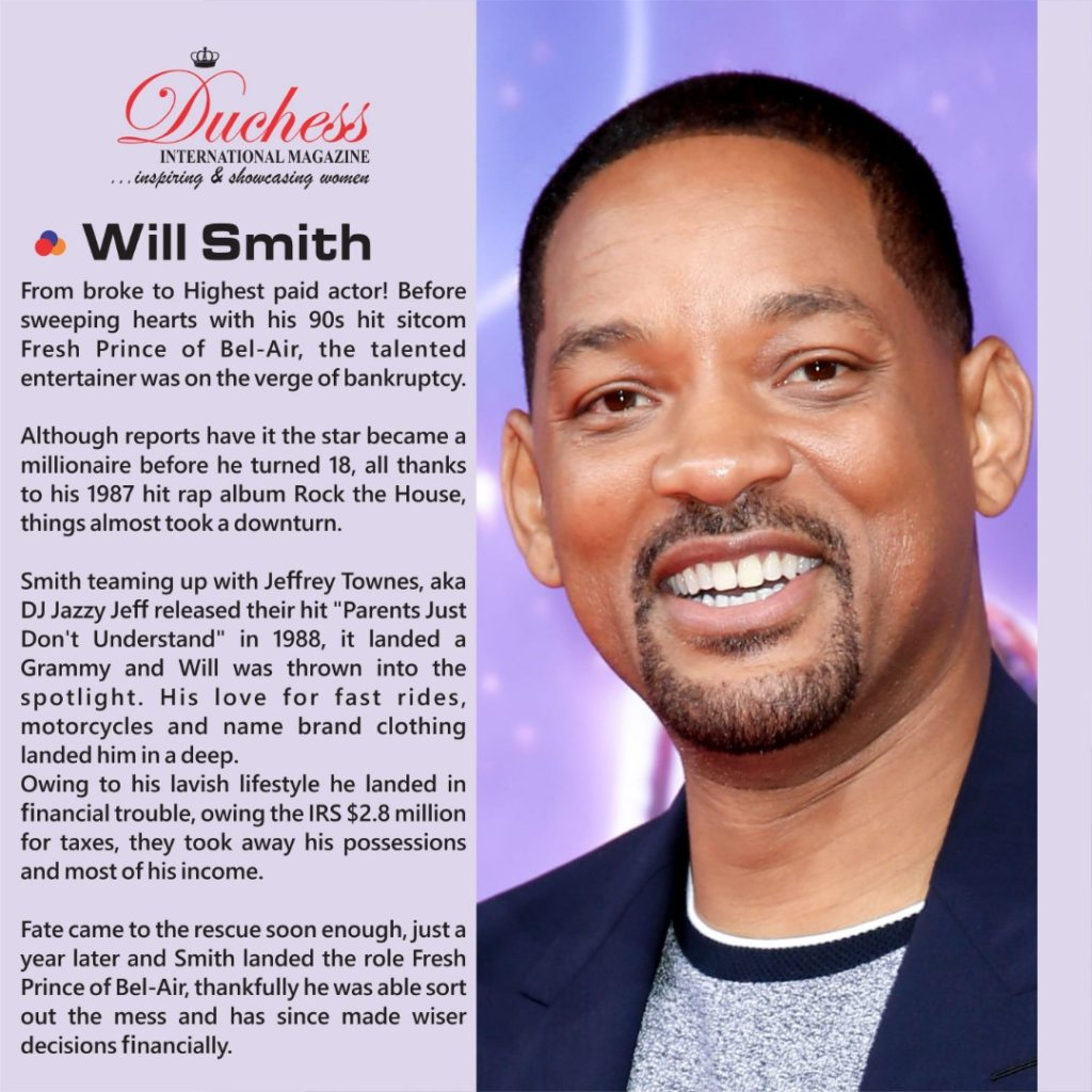 How Will Smith bounced back from bankruptcy