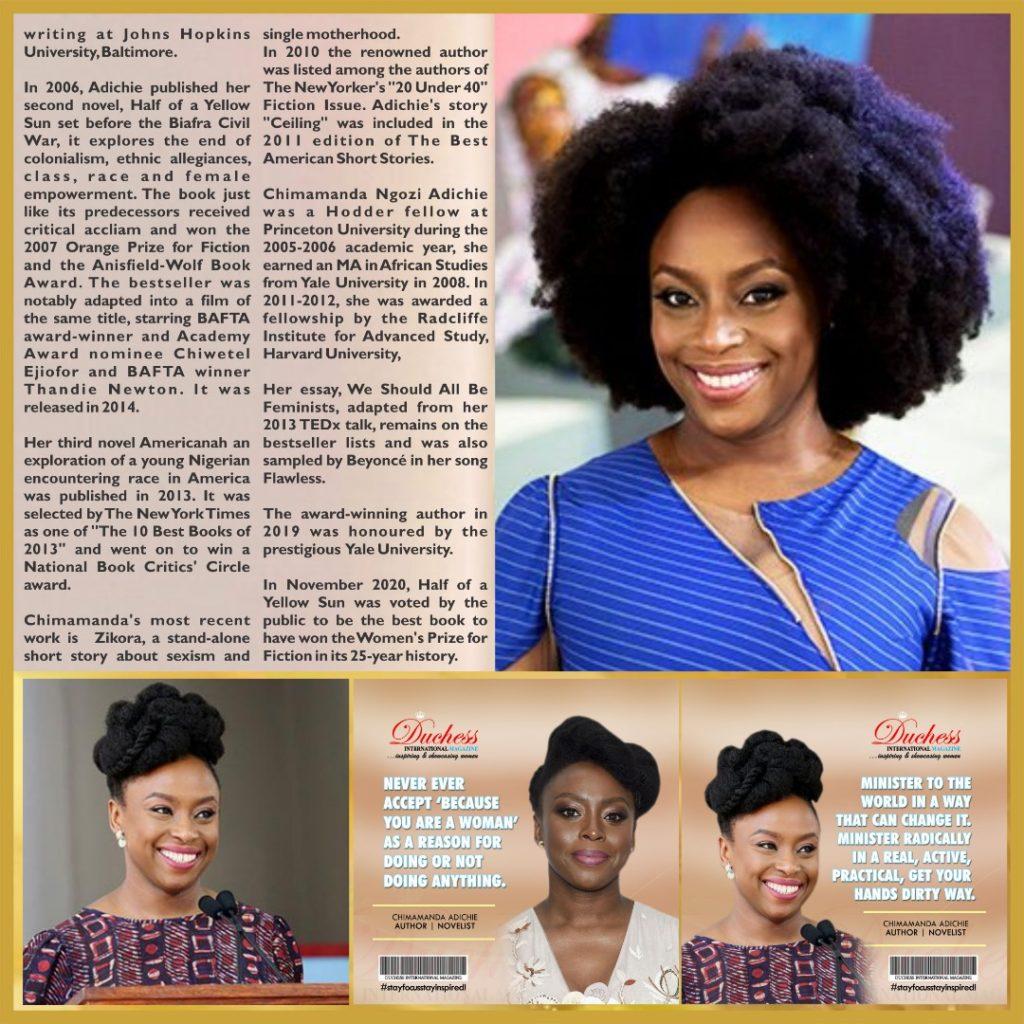 Chimamanda Adichie: renowned author