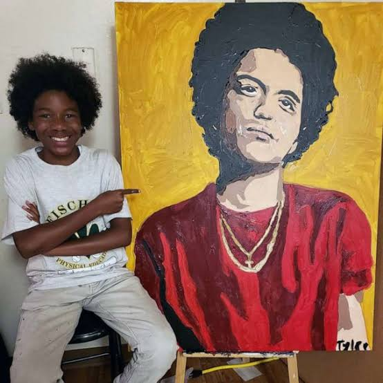 Tyler Gordon paints Bruno Mars