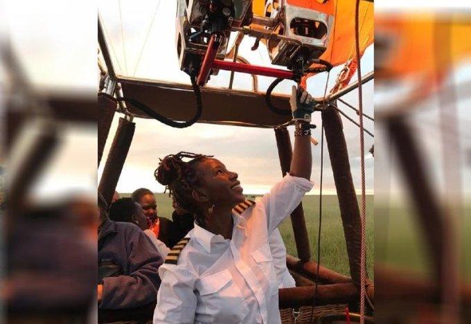 Captain Smiles Kenya's Only female hot air balloon captain
