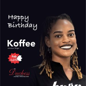Happy Birthday Raggae star Koffee