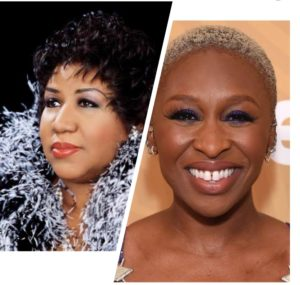 Cynthia Erivo opens up on how she landed her latest role playing the Queen of Soul Aretha Franklin just by singing on a red carpet