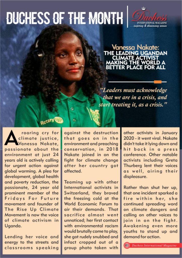 Vanessa Nakate: Ugandan climate activist