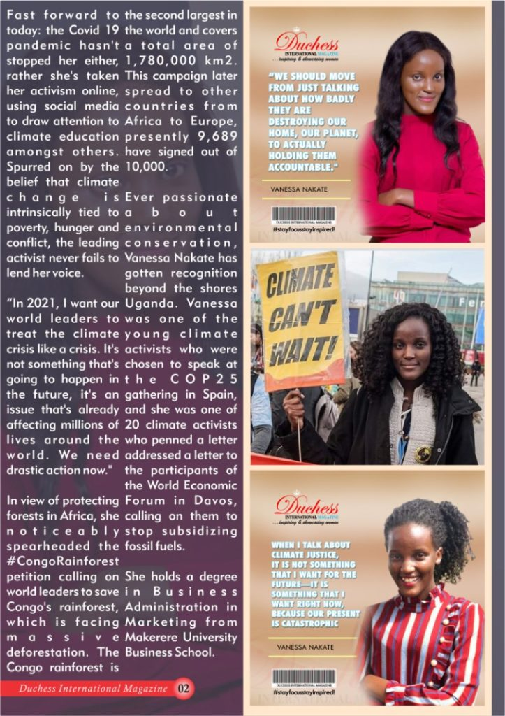 Vanessa Nakate Ugandan climate activist
