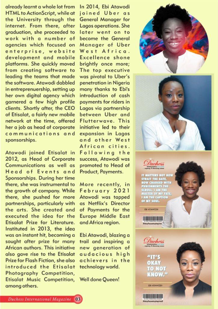 Ebi Atawodi: Duchess International Magazine's #DuchessOfTheMonth