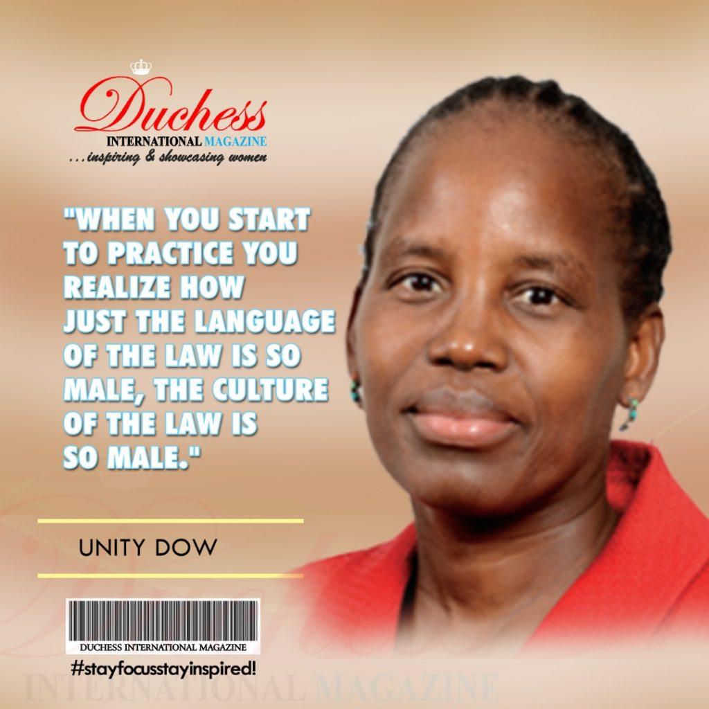 Unity Dow: Botswana's First Female High Court Judge #EmpowerHer