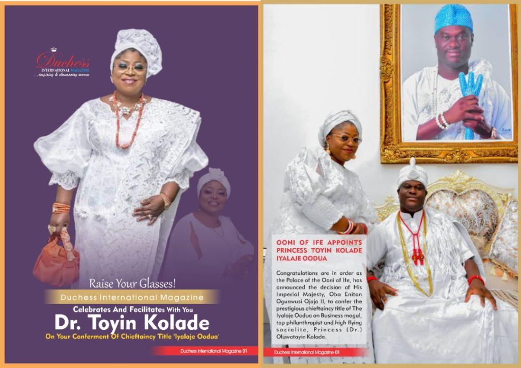 Dr. Toyin Kolade honoured by Ooni of Ife with chieftaincy title - The Iyalaje Oodua