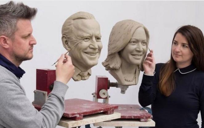 Biden and Harris get own wax figure from Madame Tussauds
