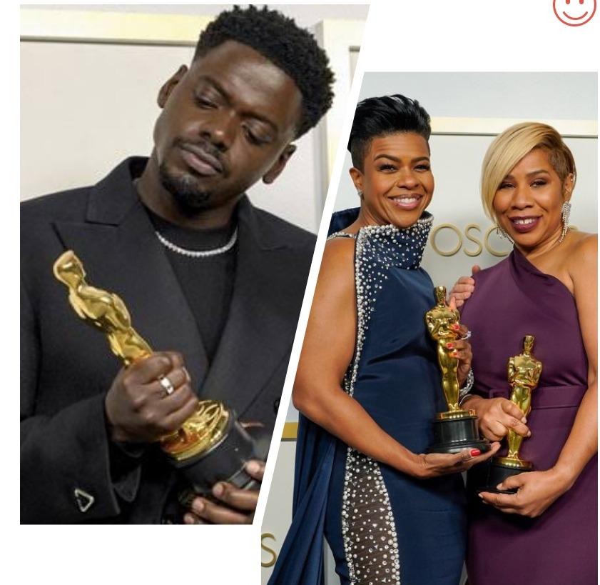 Daniel Kaluuya, Mia Neal and Jamika Wilson, Oscars 2021