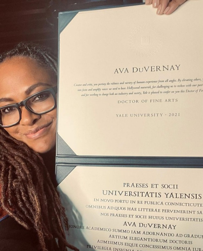 Ava Duvernay receives honorary doctorate from Yale University