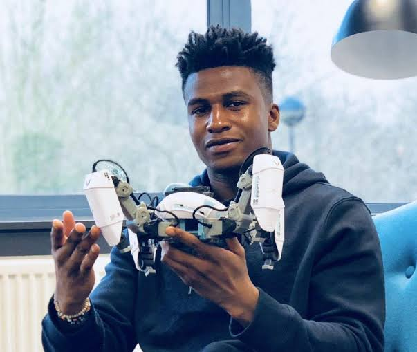 Silas Adekunle; Nigerian Born Tech Genius Who Built The World's First Intelligent Gaming Robot!