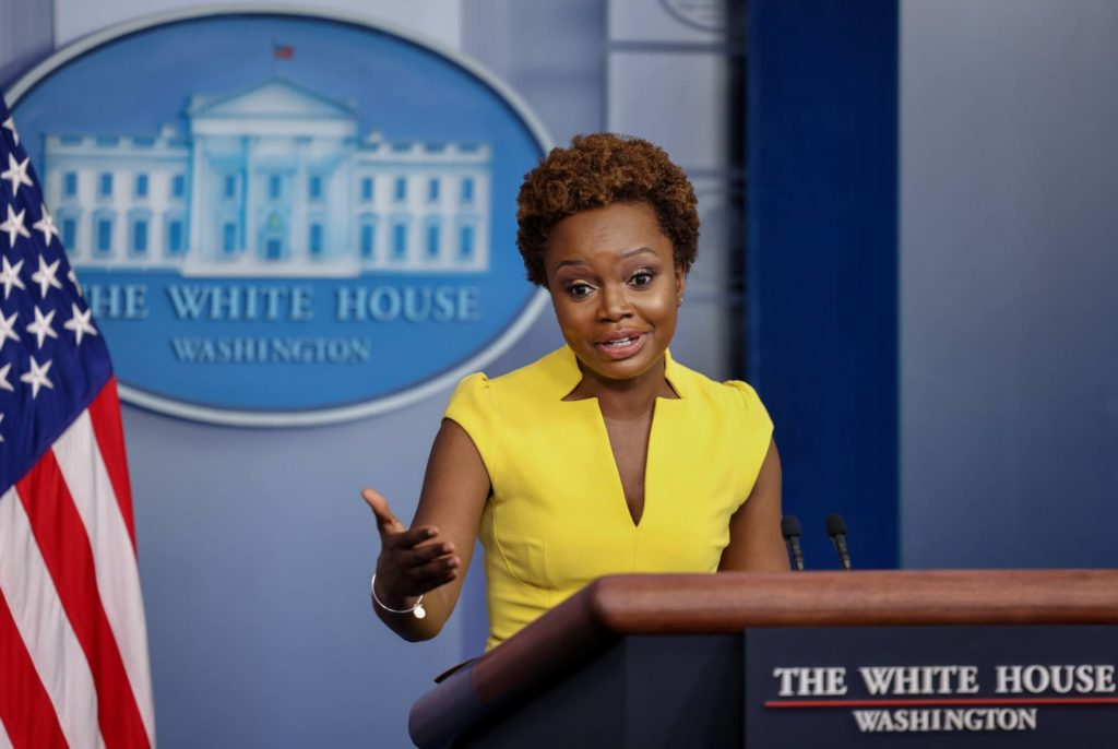Karine Jean-Pierre becomes first black woman to host daily White House press briefing in three decades