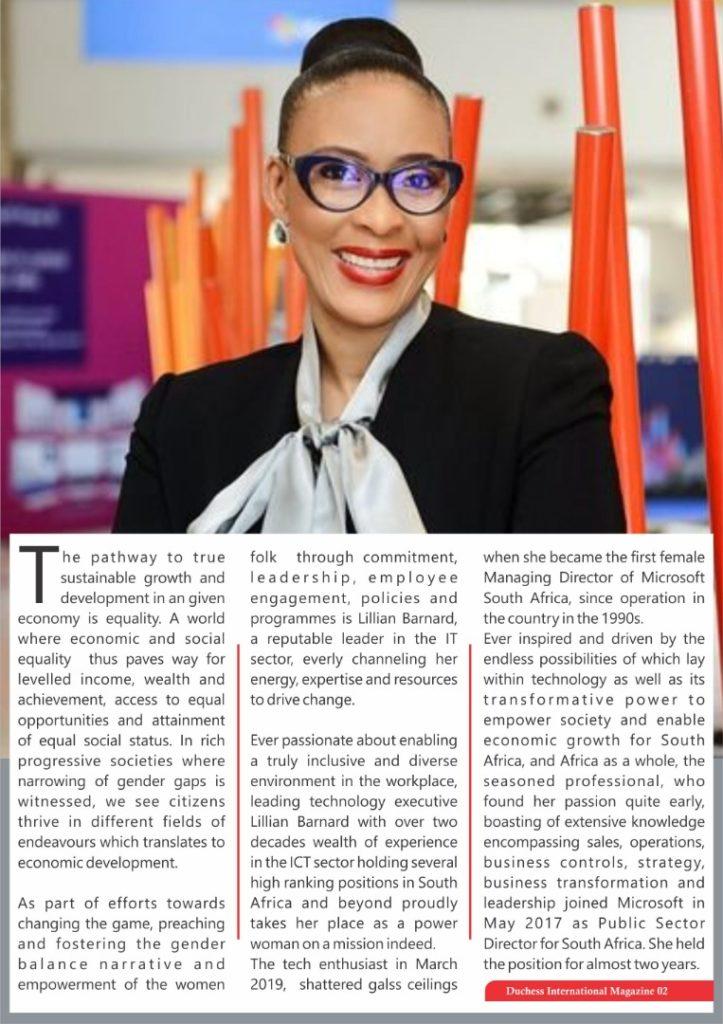 Lillian Barnard: Managing Director, Microsoft South Africa