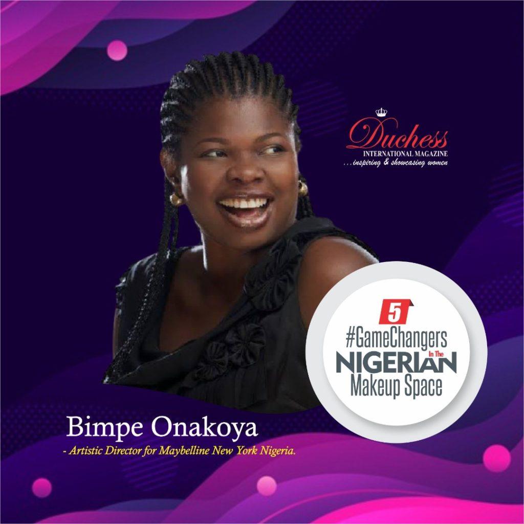 Bimpe Onakoya - Artistic Director Maybelline New York Nigeria.