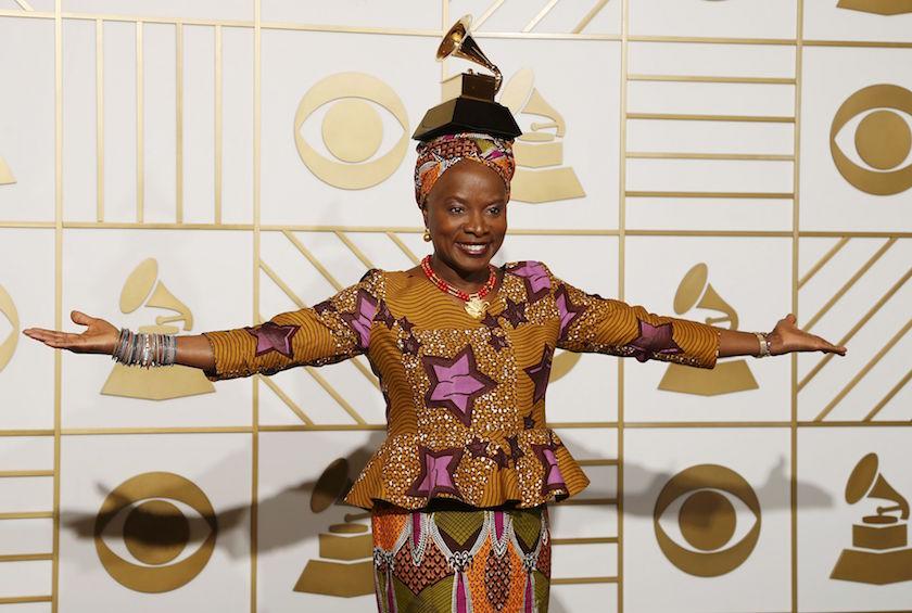 Angelique Kidjo rocks her African print to the Grammys, wins an award