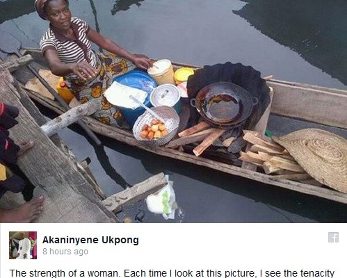 Strength of a Woman: The Nigerian Woman Who Sells Puff-Puff on Water