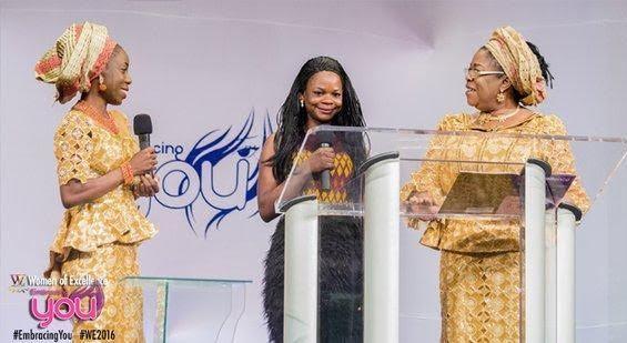 Glory knows no bounds! Olajumoke shares stage with Dolapo Osinbanjo, Vp's Wife.