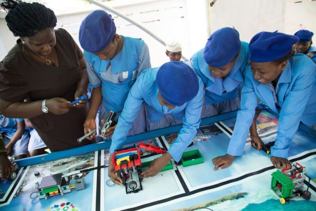 Female Students build Robot to tackle Waste