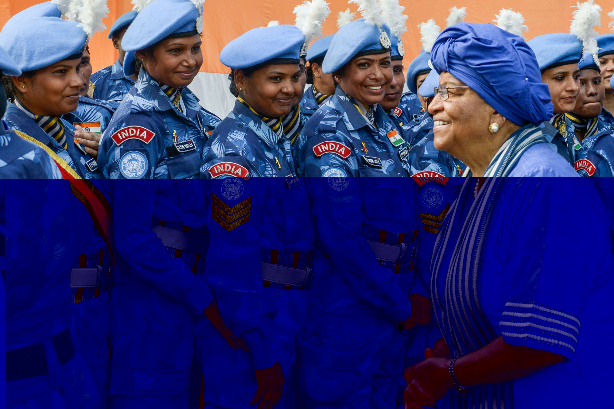 Hailed as 'role models,' all-female Indian police unit departs UN mission in Liberia