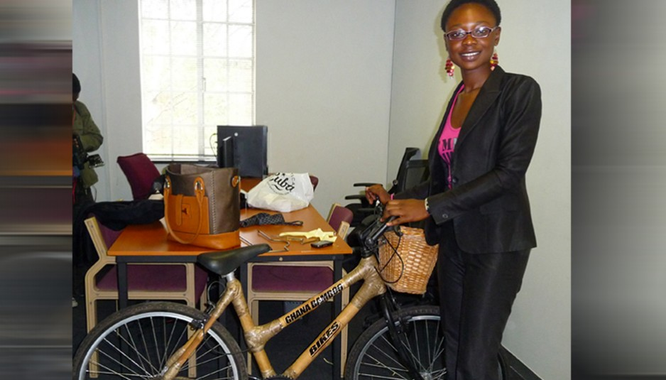 """Motivation Must come From Within Not from others"" Co Founder GhanaBamboo Bikes, Winnifred Selby Reveals success story."