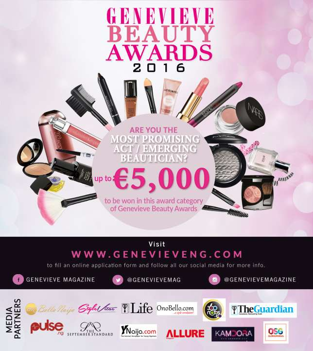 Genevieve Beauty Awards: Dishes out €5,000 For the most Promising act or emerging beautician
