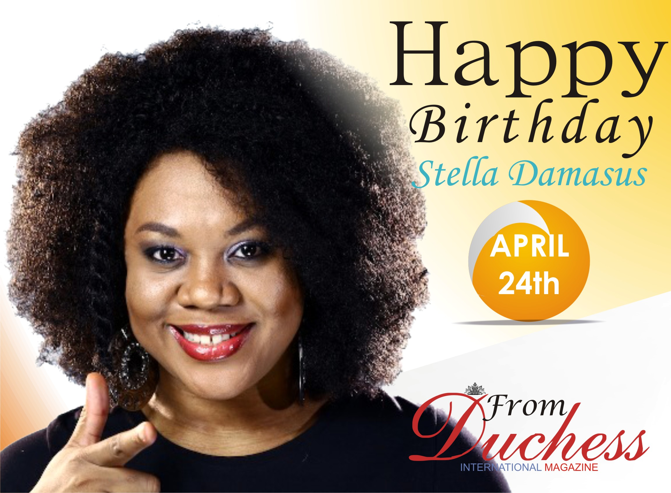 Nollywood Actress and Singer Stella Damascus Turns 38 Today.
