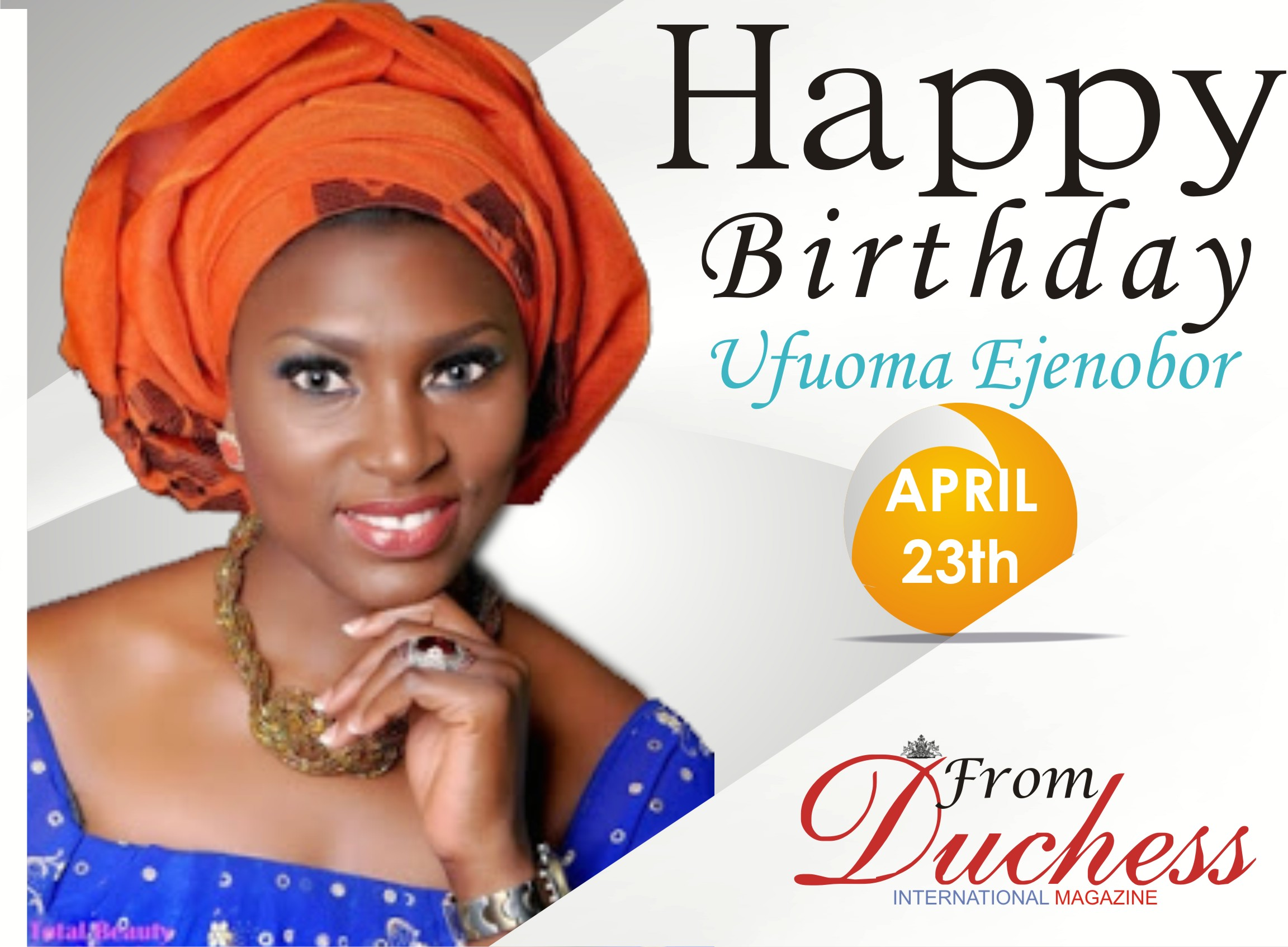 Popular Nigerian Actress Ufuoma Ejenobor is a year older today.
