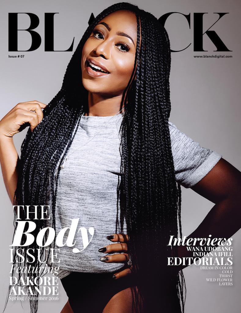 "Nigerian Star Actress ""Dakore Akande"" Covers Blanck Magazine ""Body Issue"""