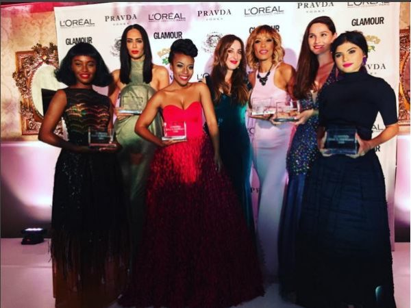 "Photos Of Stylish South African Stars at Glamour Magazine's ""Most Glamorous Women of 2016"" Awards"
