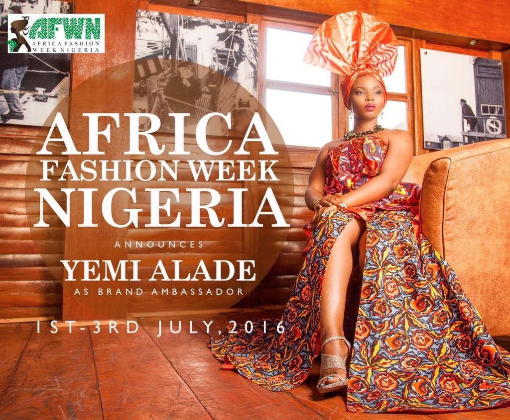 Yemi Alade Unvelied as 2016 AFWN & AFWL Brand Ambassador