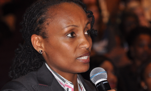 """""""People who read tend to enjoy better health and make more money"""" says  Lydie Hakizimana."""