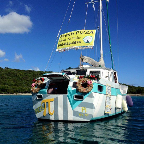 Couple Quit Successful Careers to Operate Pizza Boat in the Caribbean.