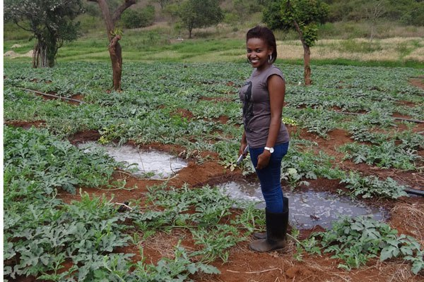 """I quit My job to farm Watermelons, Now I am Making Millions"", Says Annie Nyaga."