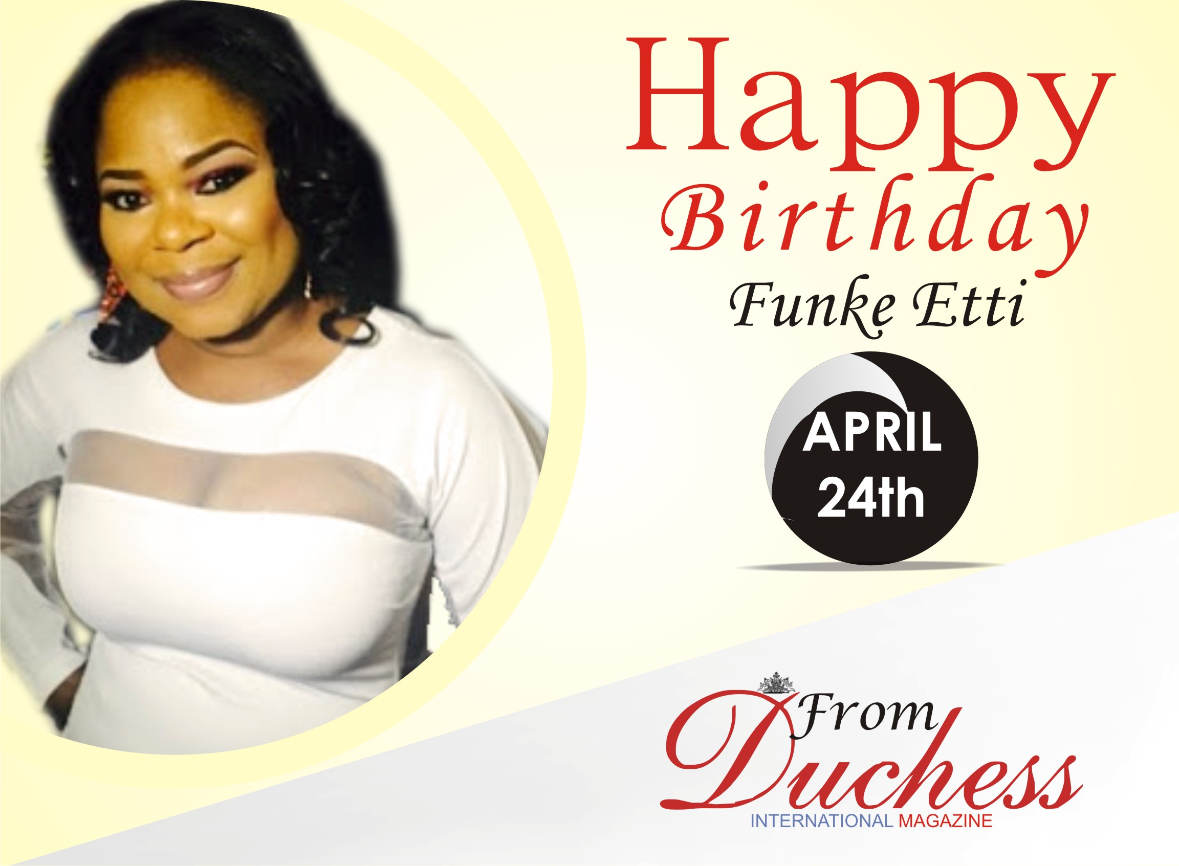 Nollywood actress, Funke Etti is a Year Older Today