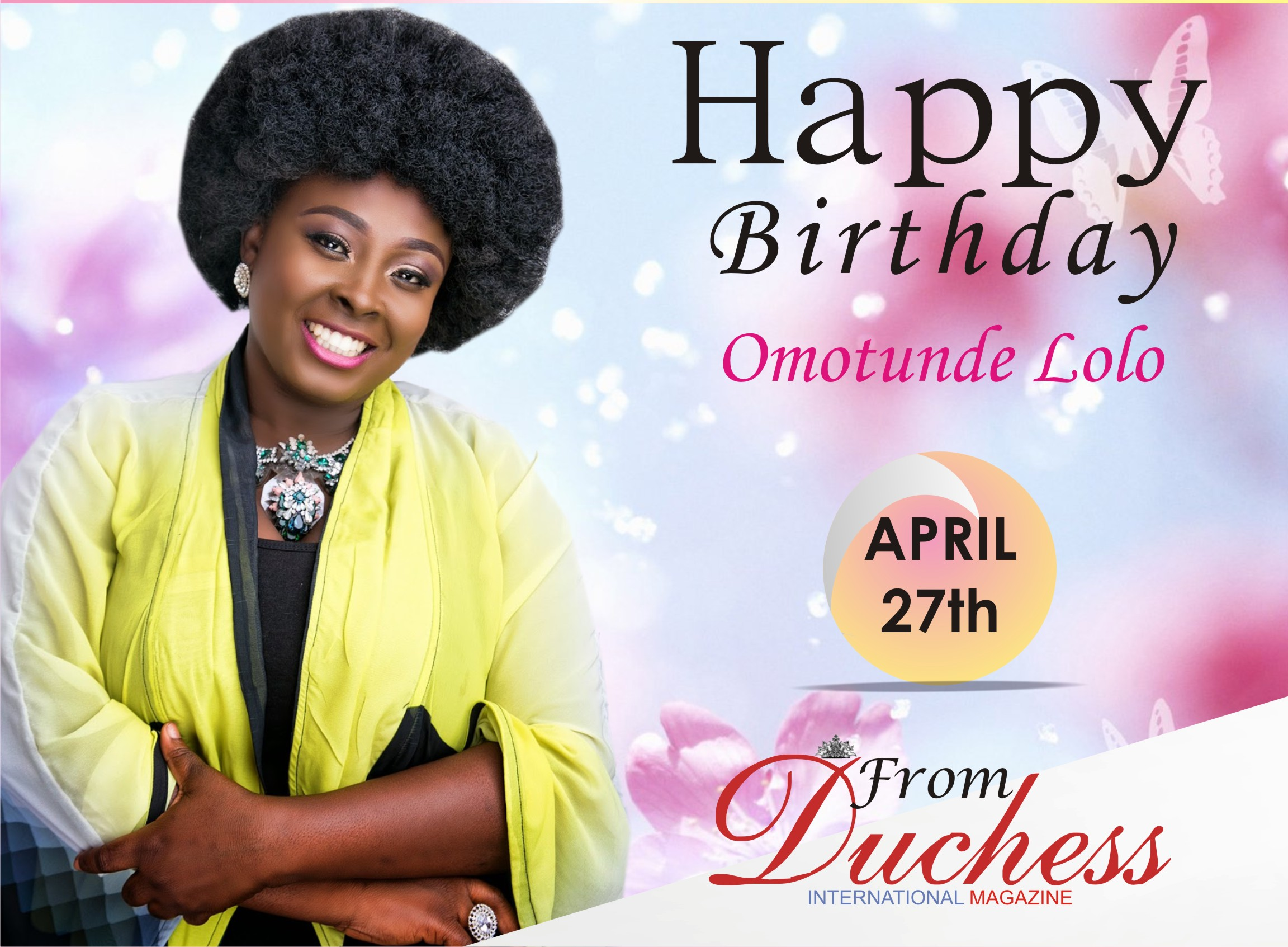 Wazobia FM/TV's OAP Omotunde Lolo 1 Turns A Year Older Today.