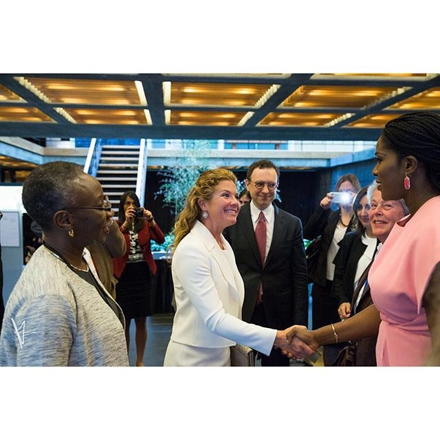 Stephanie Okereke-Linus Meets with First Lady Sophie Grégoire Trudeau & First Female U.S. Secretary Of State Madeleine K. Albright Speak At #NotTheCost Conference in New York
