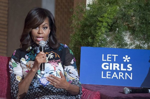 U.S First Lady Michelle Obama visits Morocco daughters Sasha & Malia to Promote Girls' Education