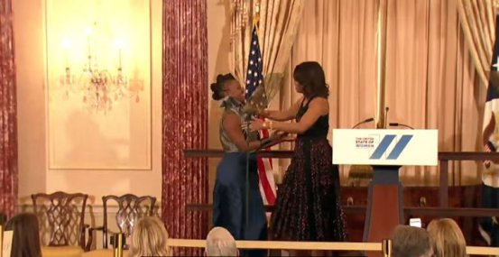 Michelle Obama celebrates Kenyan entrepreneur Ciru Waithaka at US event