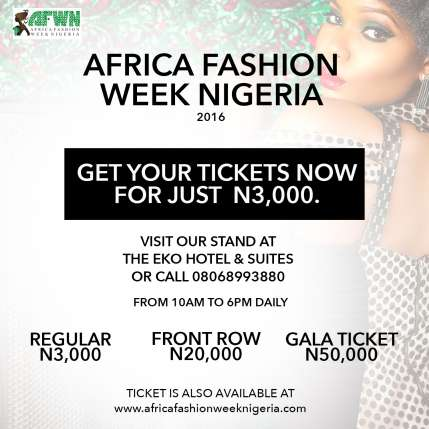 The Africa Fashion Week Nigeria 2016 'Street Catwalk in the Mall' holds tomorrow Saturday 25th June at the Palms Shopping Mall in Lekki.