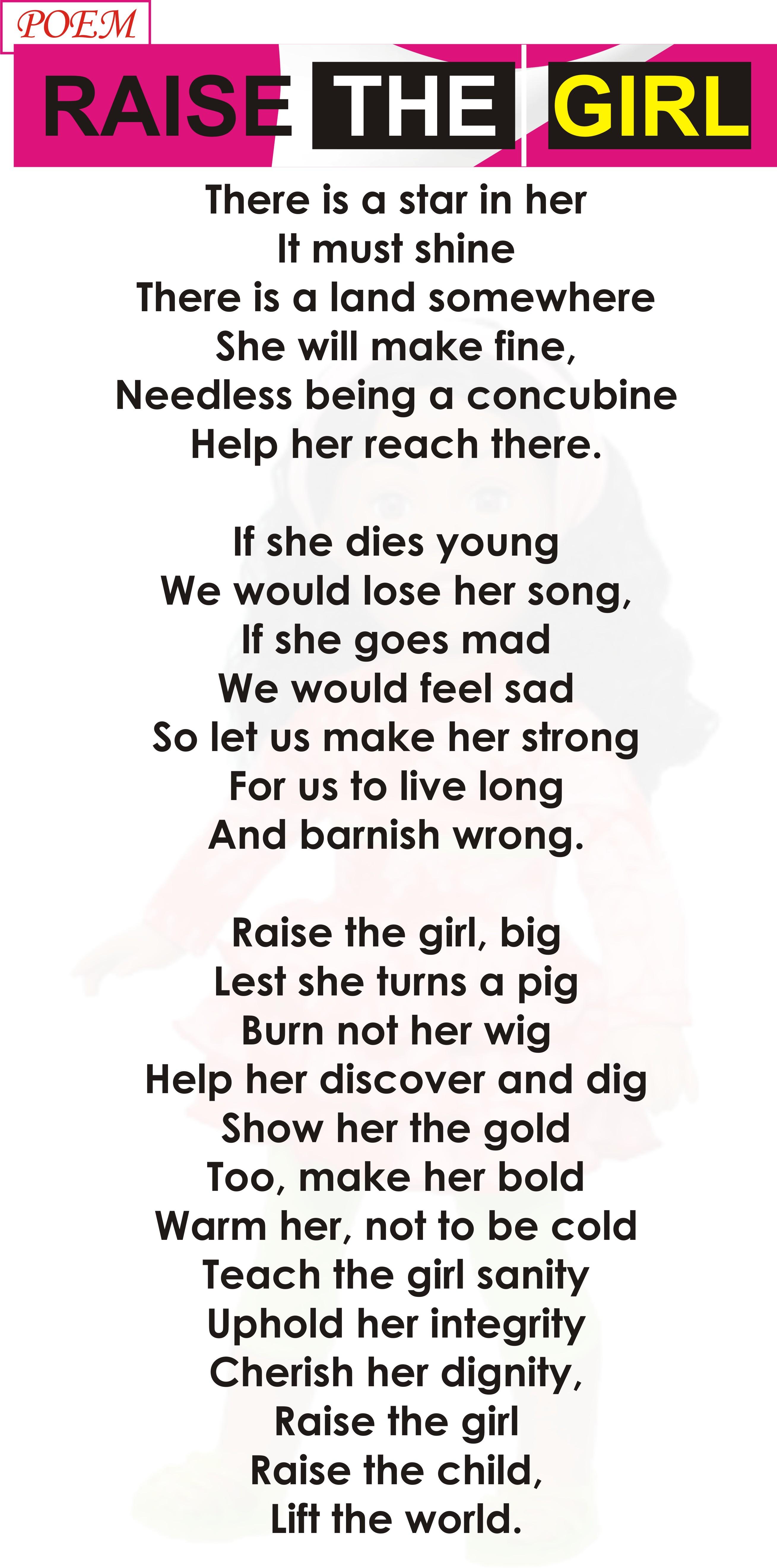 POEM – RAISE THE GIRL