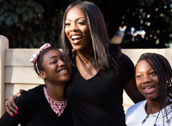 Tiwa Savage visits The House Group Orphanage in Johannesburg to Create Awareness against Child Trafficking & Sexual Exploitation