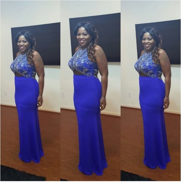 Actress Bimbo Thomas makes her Red Carpet Debut following the Birth of her Son